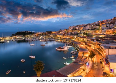 The small port of Mikrolimano in Piraeus during an epic sunset