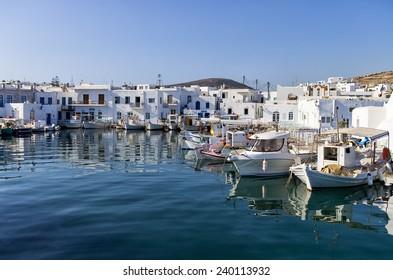 Small port in Naoussa village, Paros island, Greece