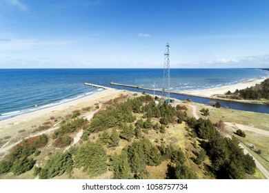 Small port Pavilosta at Baltic sea coast, Latvia.