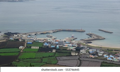 Small port and a village in Jeju island
