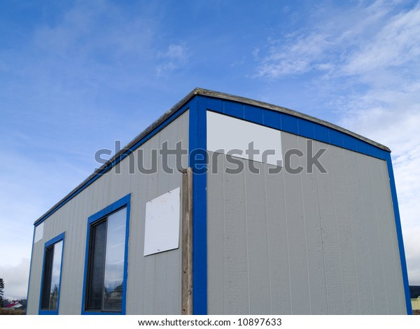 Small Portable Office On Wheels Construction Stock Photo Edit Now 10897633