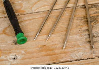 Small precision screwdrivers as used to repair watches and clocks