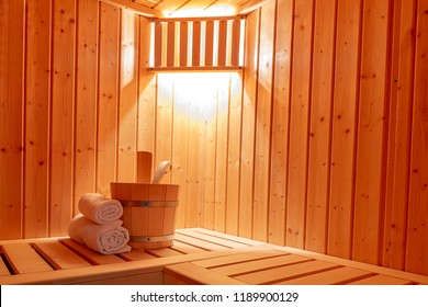 a small private Finnish sauna