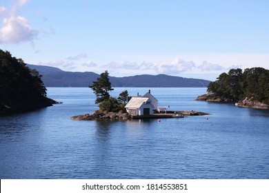 Small private island on Bjornafjord in Norway.