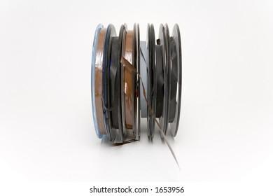 Small professional audio tape reels