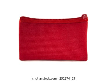 Small purse white background ,bag