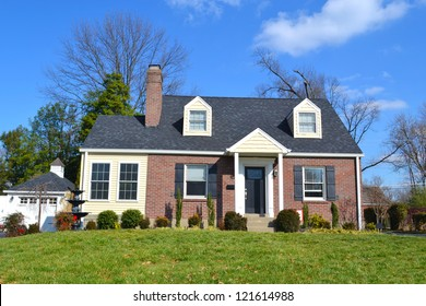 Small Red Brick American Home