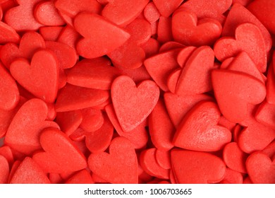 A small red sweet heart for background