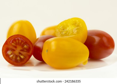 Small red and yellow tomato
