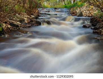 Small river with a beautiful stream