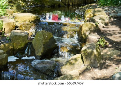 Small river with big stones