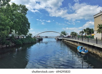Small river in the city centre of Yalova in Turkey