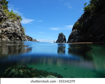 The small river mouth Yakushima ,kagoshima prefecture, japan.