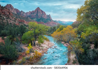 Small river in the Zion National Park, USA