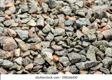 small rock crushed stone road-metal