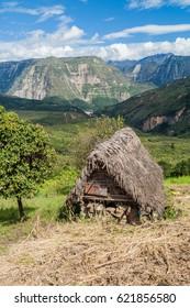 Small rural hut near Catarata del Gocta waterfall, Peru