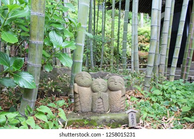 A small ryoen jizo of Hase Temple in Kamakura, Japan.Chinese characters mean Jizo for happy marriage.
