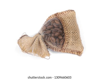 Small sack isolated on white background
