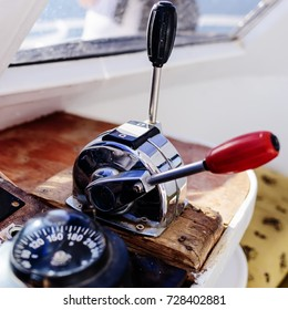 small sailing boat helm station