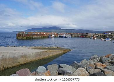 Small Scottish Fishing Harbour (Carradale)