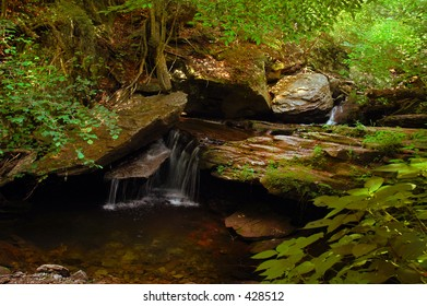 Small series of waterfalls makes for a very beautiful natural setting.