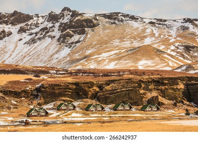 The small settlement of Vik, Iceland