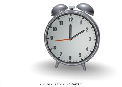 Small shiny 3d alarm clock