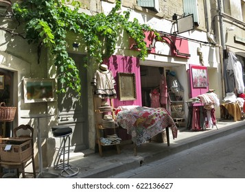 Small shop on a quiet street in Arles