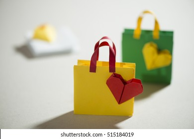 Origami Shopping Bag Stock Photos Images Photography Shutterstock