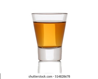 A small shot glass of delicious  whiskey