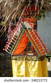 A small shrine by the roadside in Bali, set out for the Galungan and Kuningan festival.