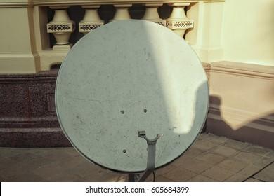 Satellite Dish Isometric Stock Photos, Images & Photography