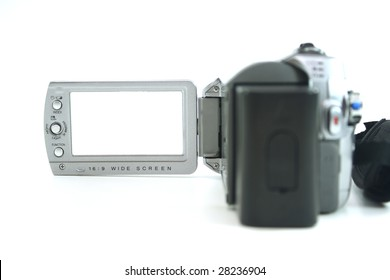 small silver digital video camera