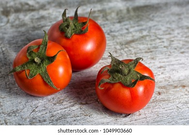 small size organic tomatoes in Ecuador on rustic background