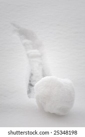 Small snowball going downhill a grow bigger. Big beginning of something - brainstorming concept