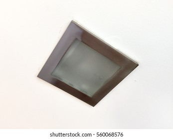 small square ceiling light