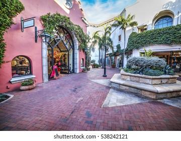 small square in Santa Barbara, California