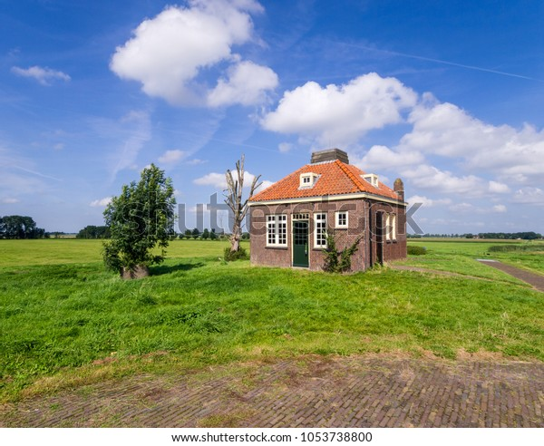 Astonishing Small Square Solitary House Red Helm Stock Photo Edit Now Download Free Architecture Designs Scobabritishbridgeorg