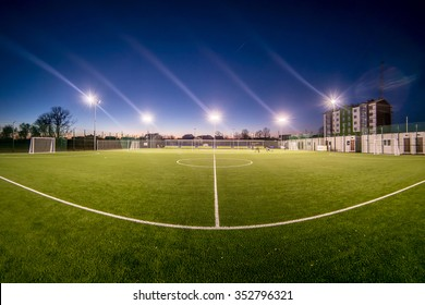 small stadium at night