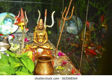 Small statue of lord Shiva in Rumtek, Sikkim