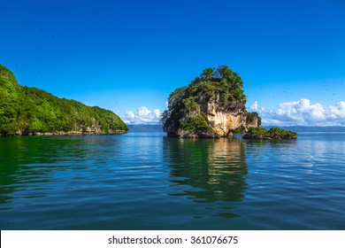 Small Stone Islands in Samana Peninsula, Dominican Republic