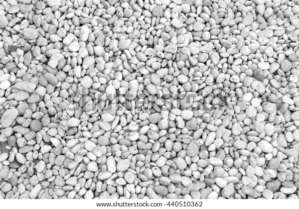 Small stones background texture.  Black and White background