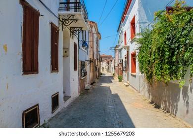 A small street in Ayvalik. Balikesir Turkey