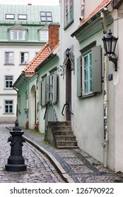 Small street of the old Riga city