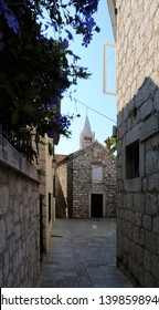 small street in the old town of Rab, Croatia
