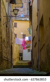 Small streets in Montepulciano Tuscany, Italy Europe