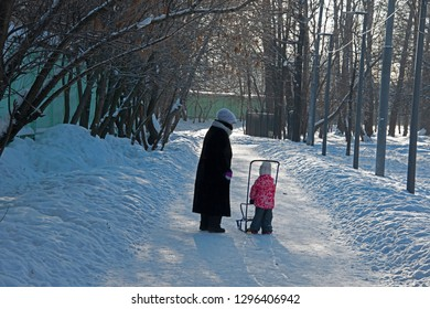The small streets of Moscow - winter