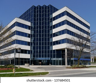 small suburban office building
