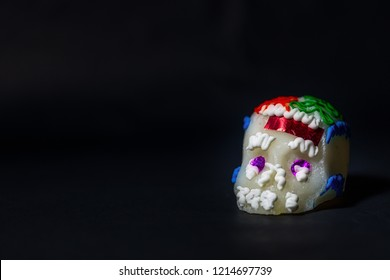 Small sugar skull with black background