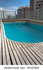 Small swimming pool on the roof